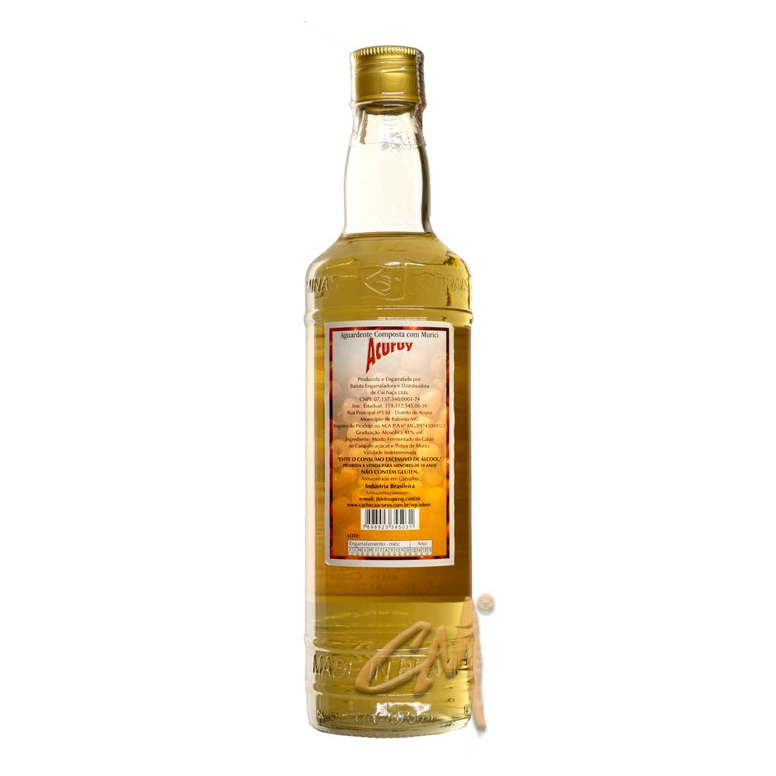Cachaça Acuruy 670 ml (Itabirito - MG)