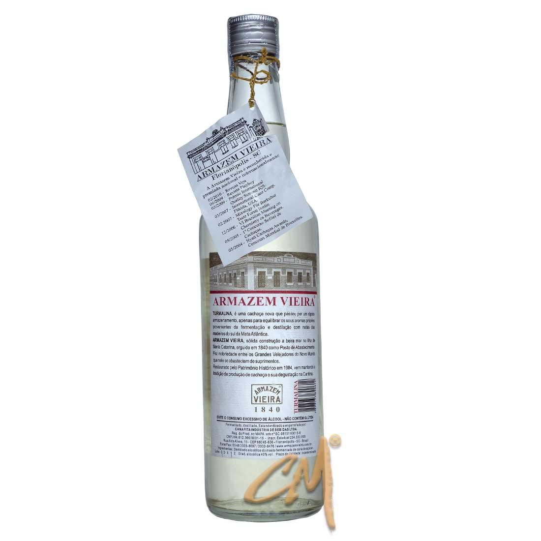 Cachaça Armazem Vieira Turmalina 670 ml (Florianópolis - SC)