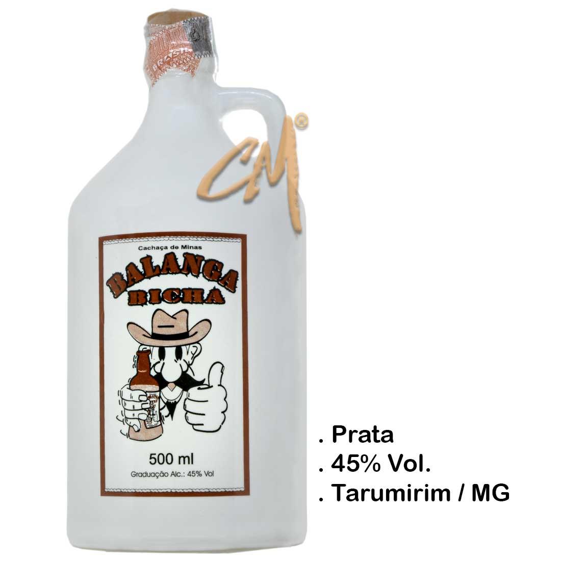 Cachaça Balanga Bicha Louça 500 ml (Tarumirim - MG)
