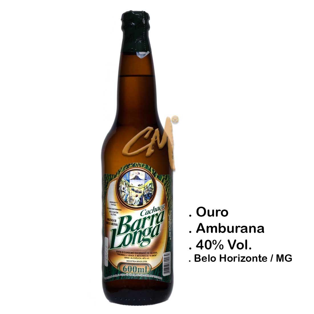 Cachaça Barra Longa 600 ml (Belo Horizonte - MG)