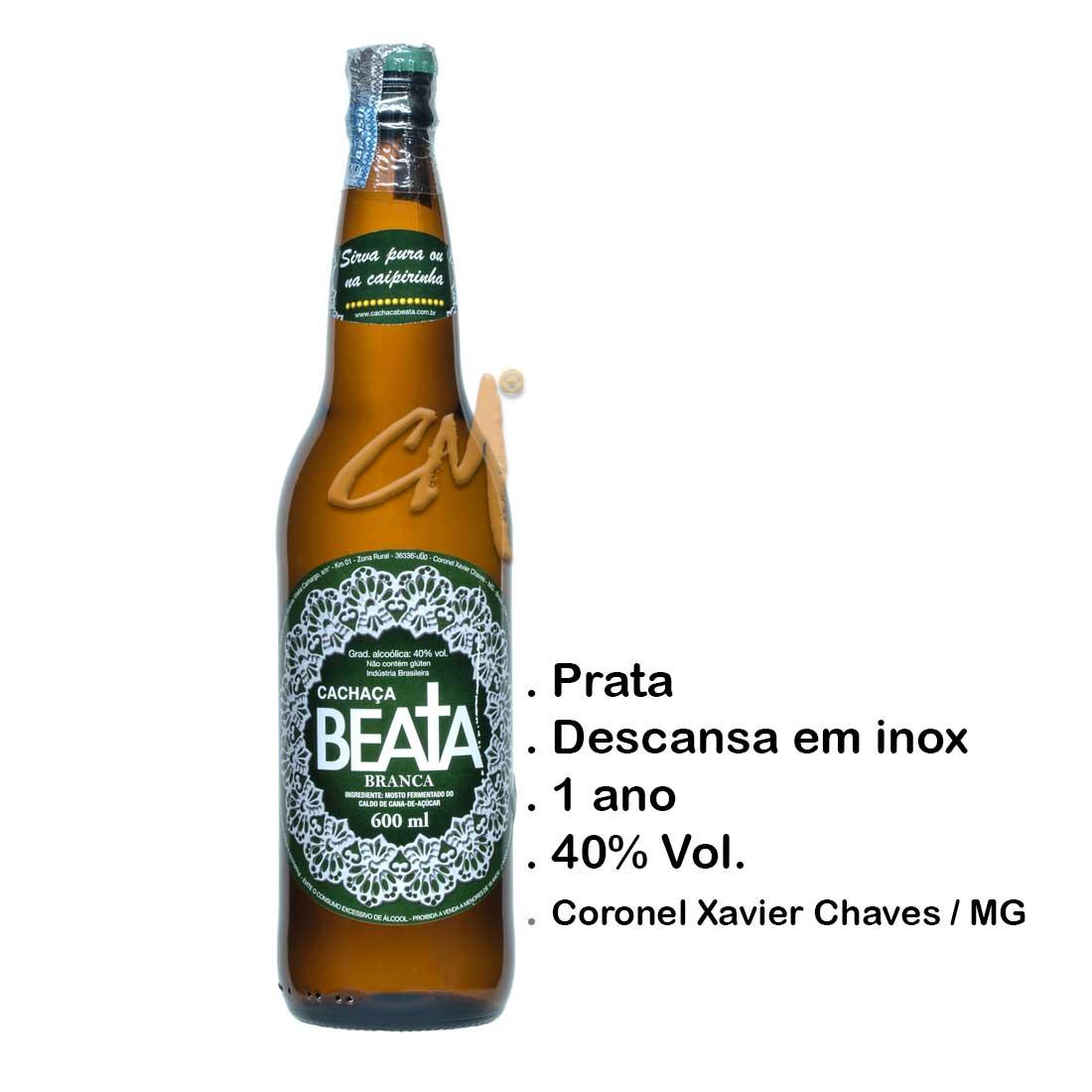 Cachaça Beata Branca 600 ml (Coronel Xavier Chaves - MG)