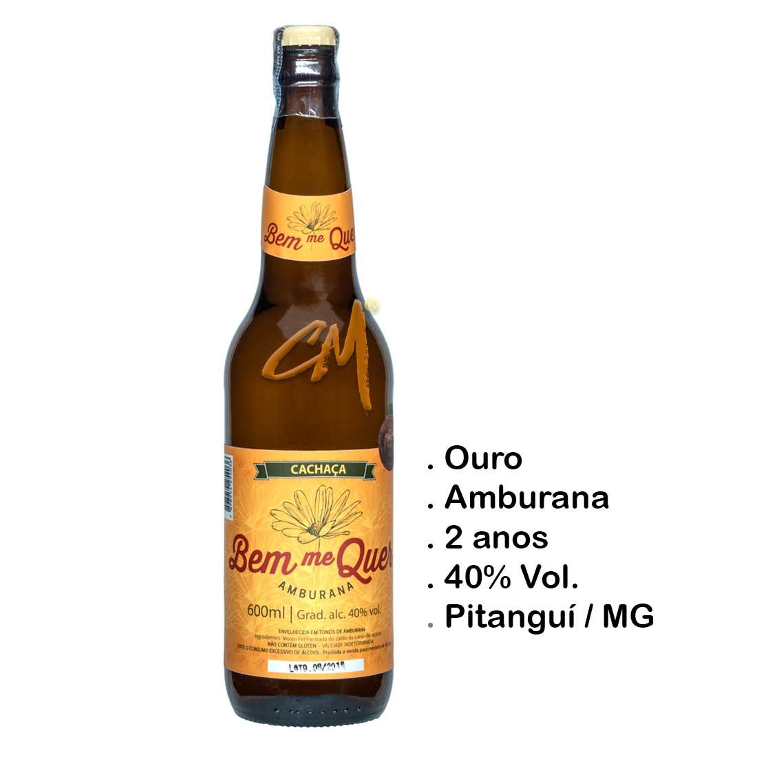 Cachaça Bem Me Quer Amburana 600 ml (Pitanguí - MG)