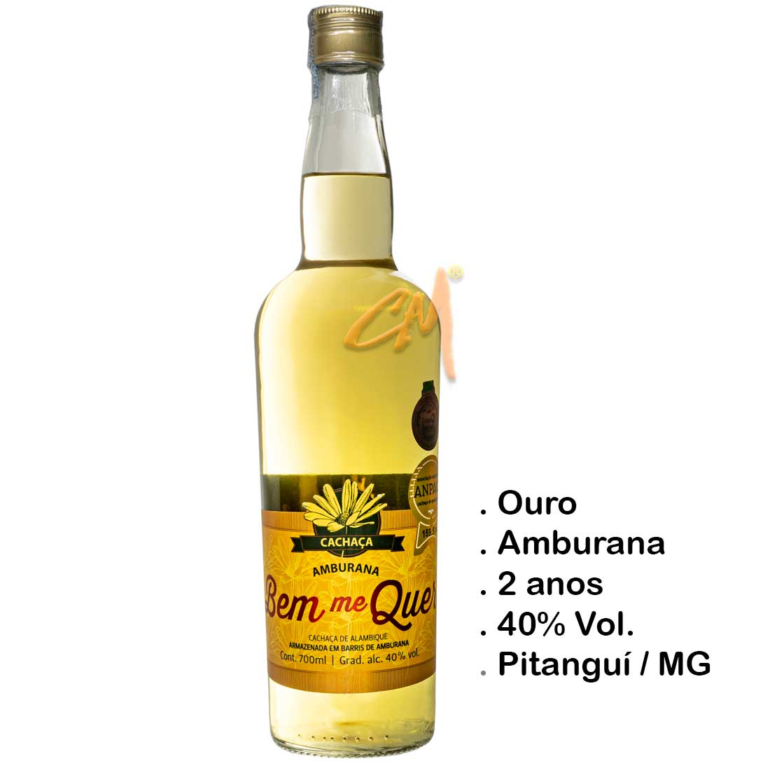 Cachaça Bem Me Quer Amburana 700 ml (Pitanguí - MG)
