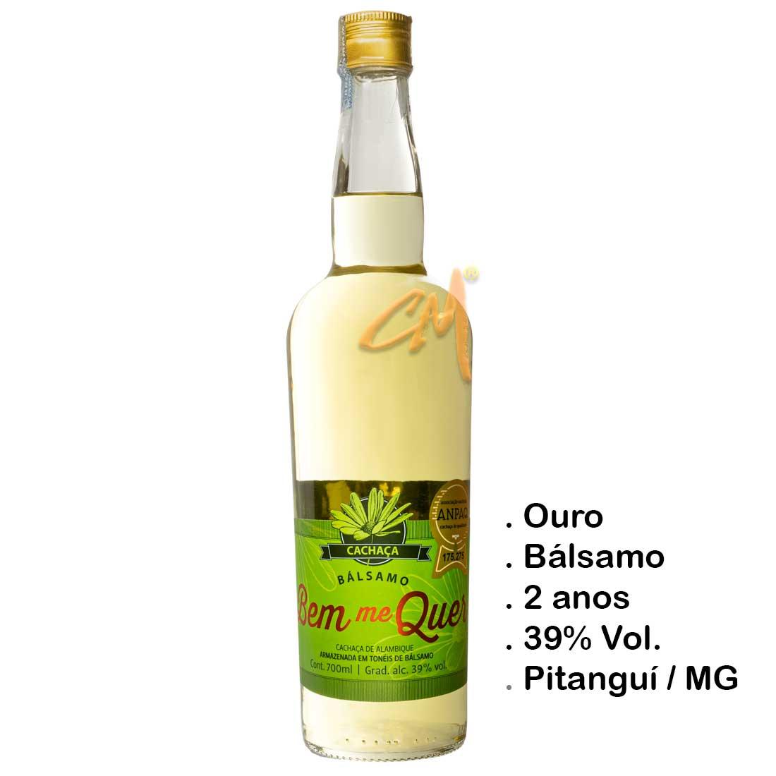 Cachaça Bem Me Quer Bálsamo 700 ml (Pitanguí - MG)
