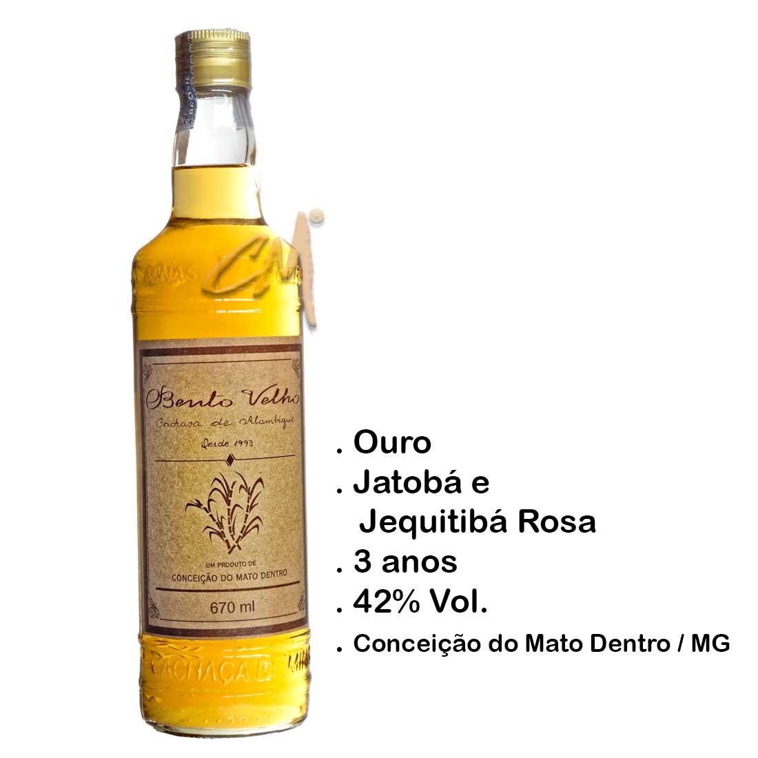 Cachaça Bento Velho 670 ml (Conceição do Mato Dentro - MG)