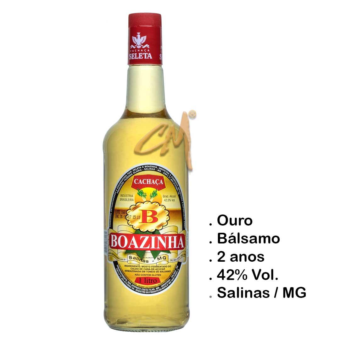 Cachaça Boazinha 1000 ml (Salinas - MG)