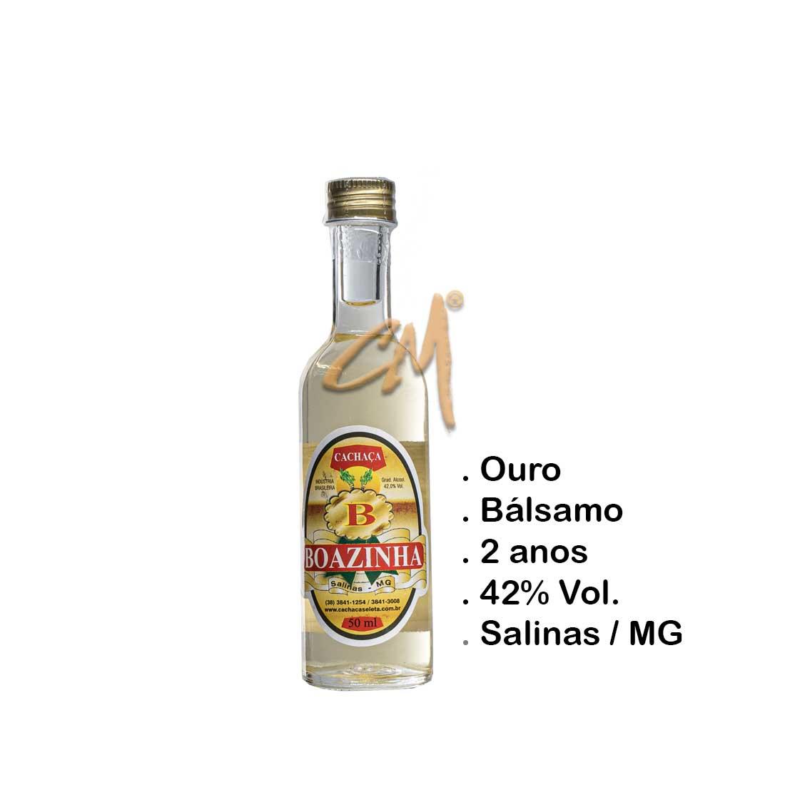 Cachaça Boazinha 50 ml (Salinas - MG)
