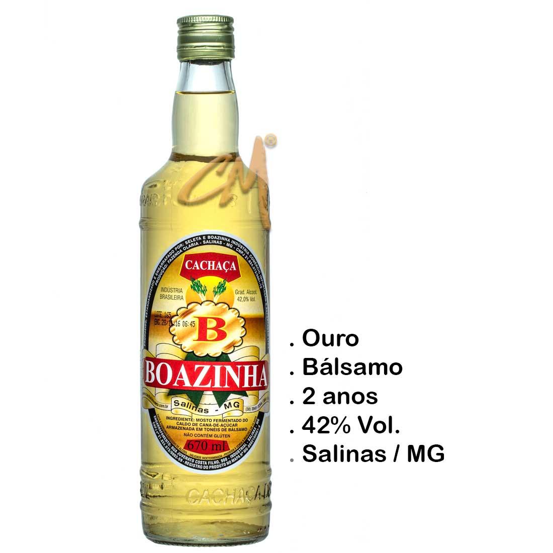 Cachaça Boazinha 670 ml (Salinas - MG)