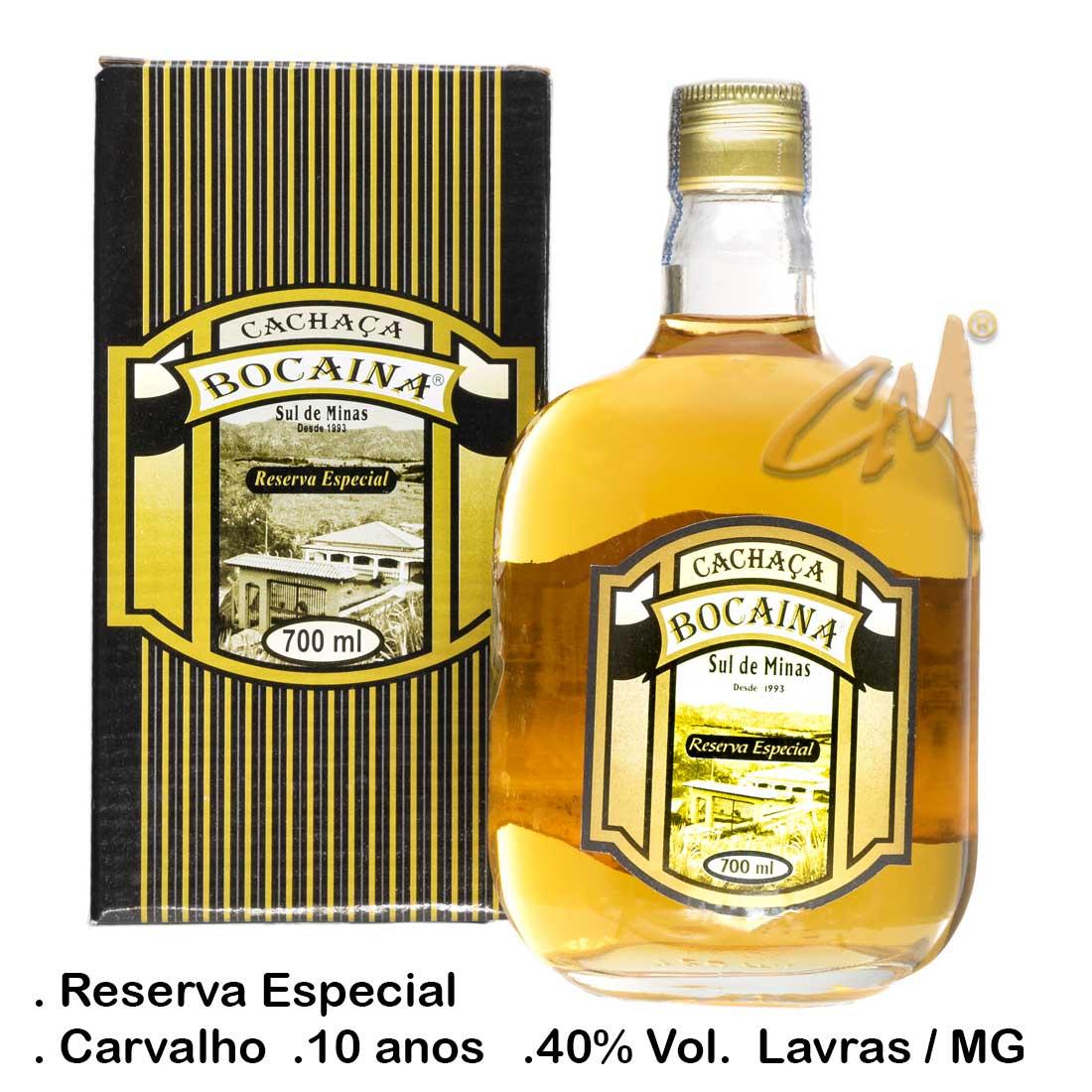Cachaça Bocaina Carvalho 10 Anos 700 ml (Lavras - MG)