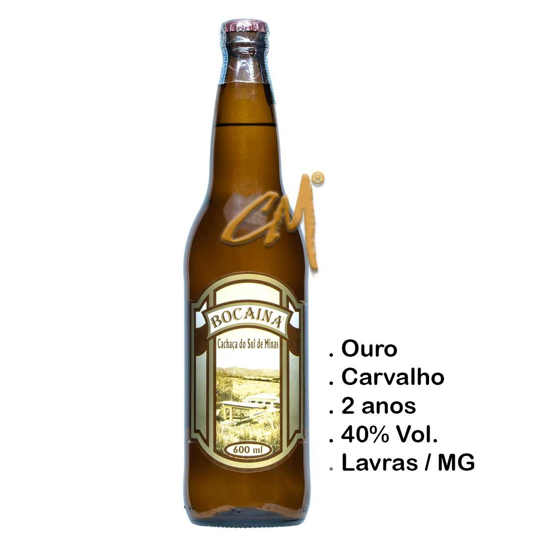 Cachaça Bocaina Carvalho 600 ml (Lavras - MG)