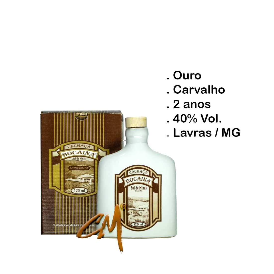 Cachaça Bocaina Carvalho Louça 120 ml (Lavras - MG)