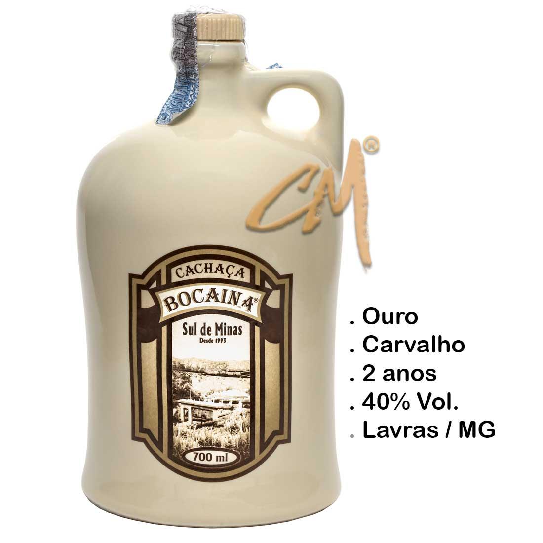 Cachaça Bocaina Carvalho Louça Branca 700 ml (Lavras - MG)