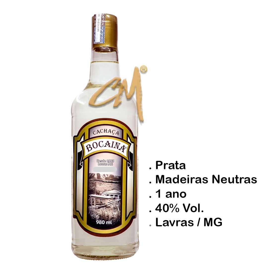 Cachaça Bocaina Prata 980 ml (Lavras - MG)
