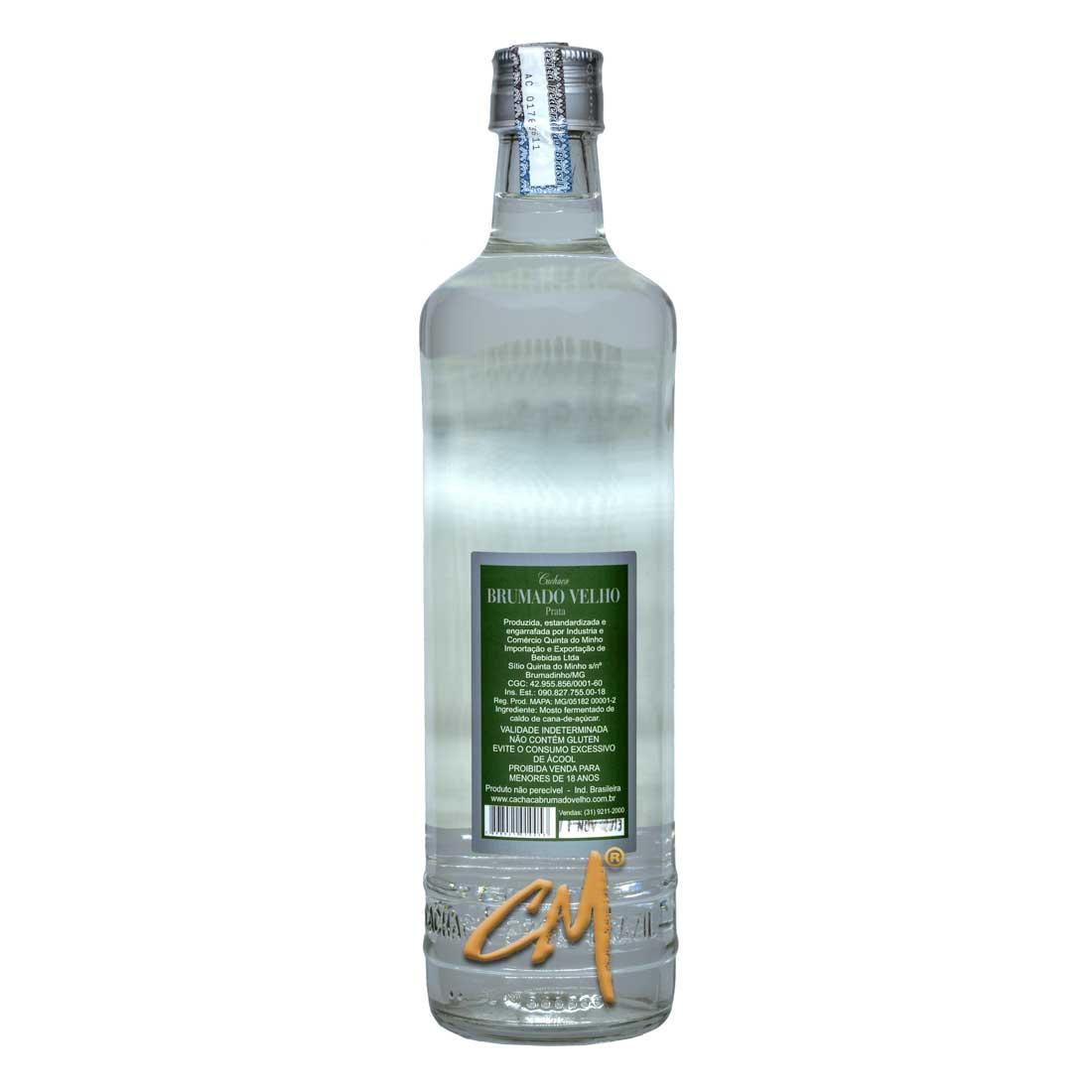 Cachaça Brumado Velho Prata 700 ml (Brumadinho - MG)