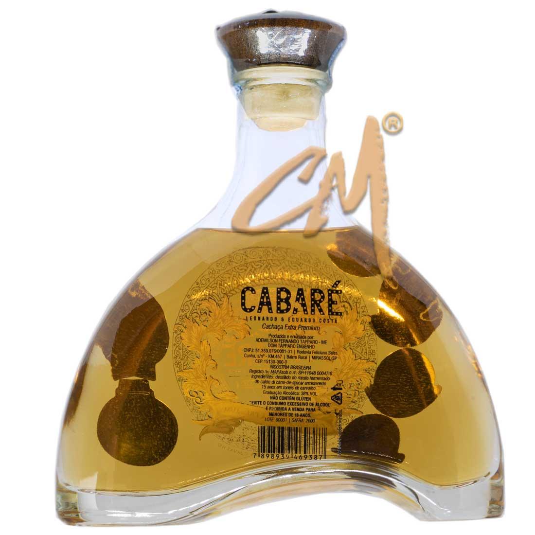 Cachaça Cabaré Extra Premium 700 ml (Mirassol/SP)