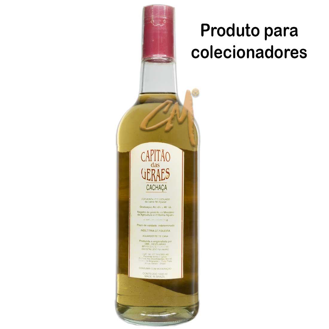 Cachaça Capitão das Gerais 1000 ml (Amarantina - MG) - Coleção