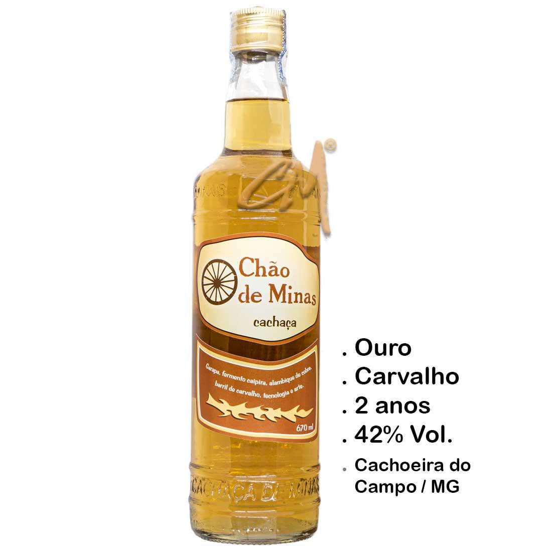 Cachaça Chão de Minas Ouro 670 ml (Cachoeira do Campo - MG)