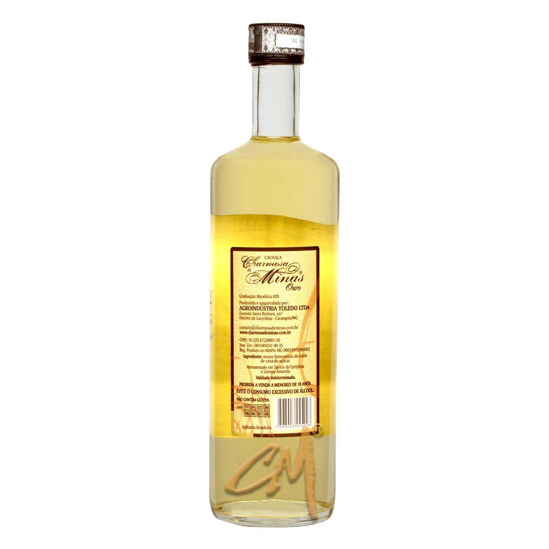 Cachaça Charmosa de Minas Ouro 700 ml (Carangola - MG)