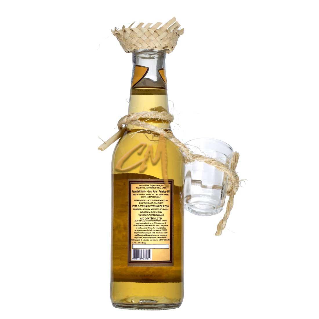 Cachaça Chico Mineiro Ouro 355 ml - Kit Caipira (Abaeté - MG)