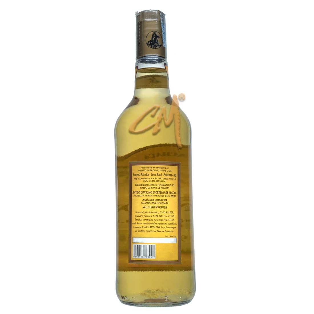 Cachaça Chico Mineiro Ouro 970 ml (Abaeté - MG)