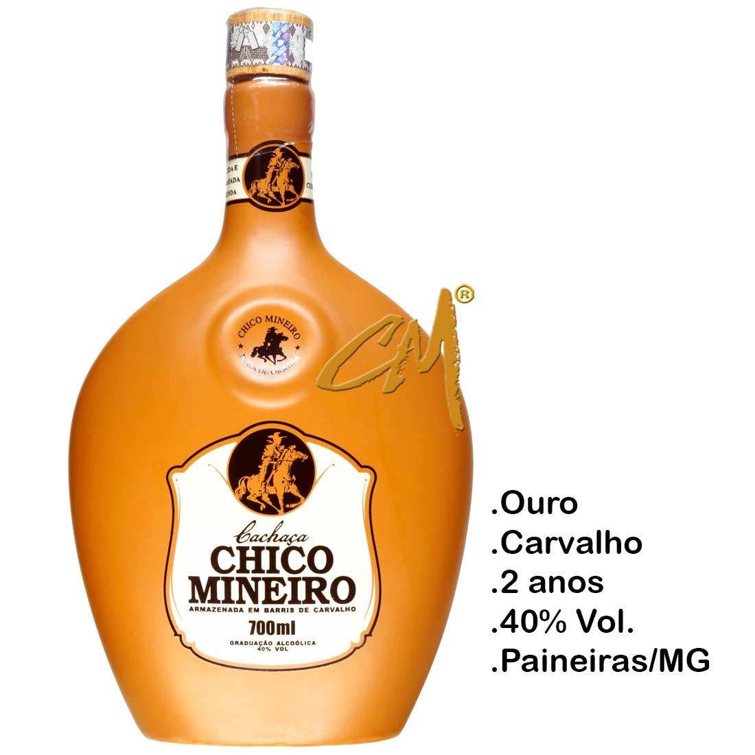 Cachaça Chico Mineiro Ouro Barro Ovalada 700 ml (Abaeté - MG)