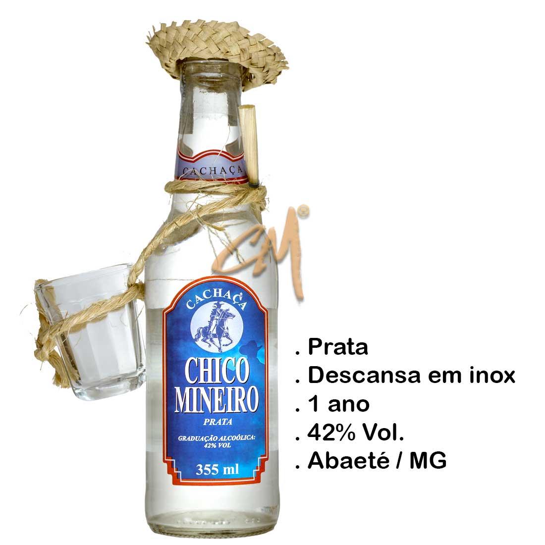 Cachaça Chico Mineiro Prata 355 ml - Kit Caipira (Abaeté - MG)