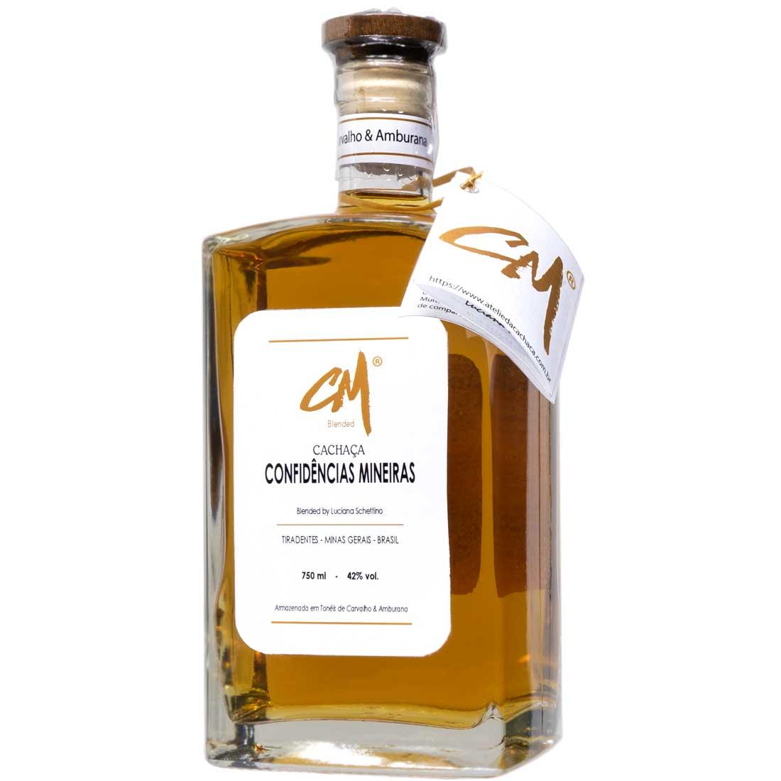 Cachaça CM - Blended 750 - Carvalho e Amburana (Tiradentes - MG)