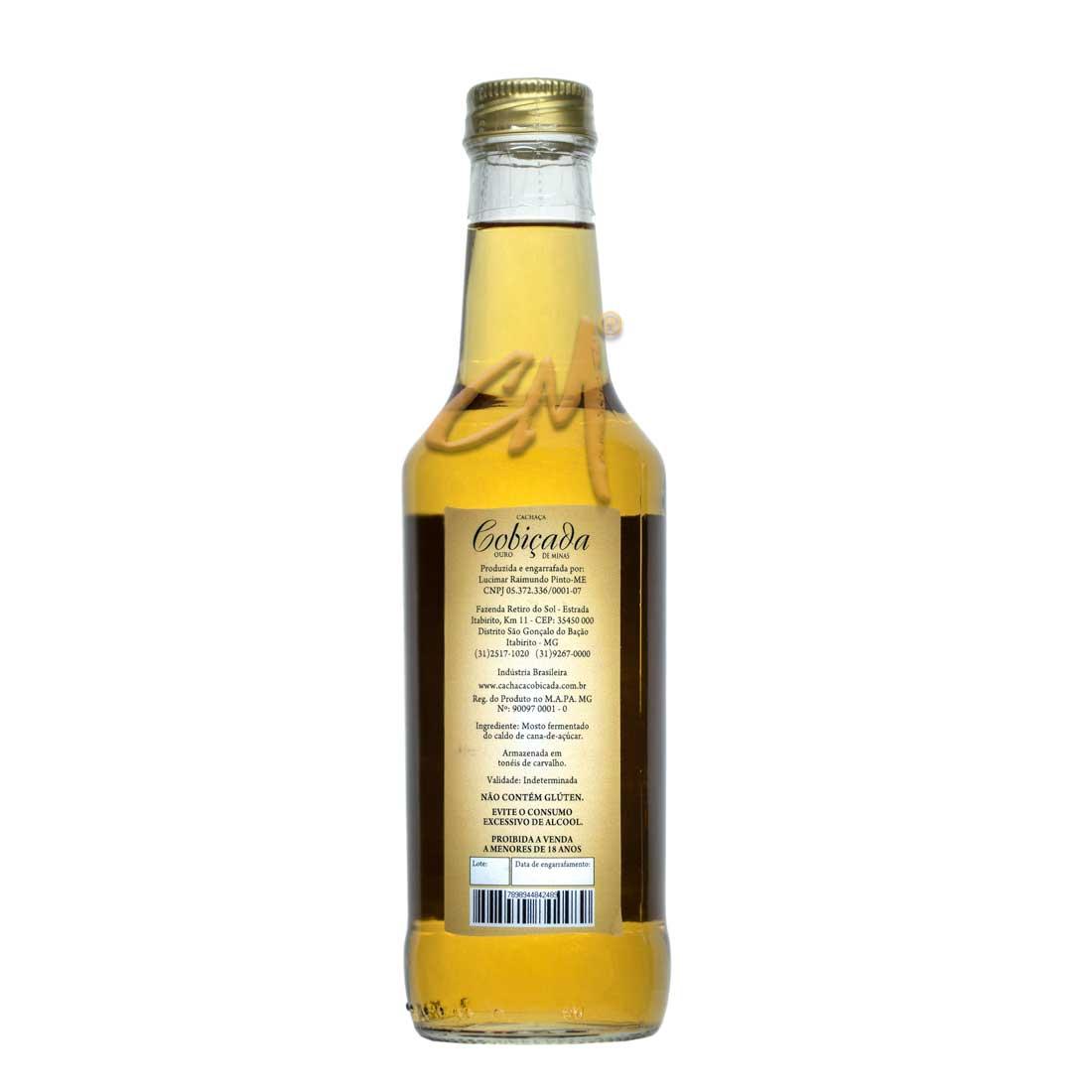 Cachaça Cobiçada Ouro 275 ml (São Gonçalo do Bação - MG)