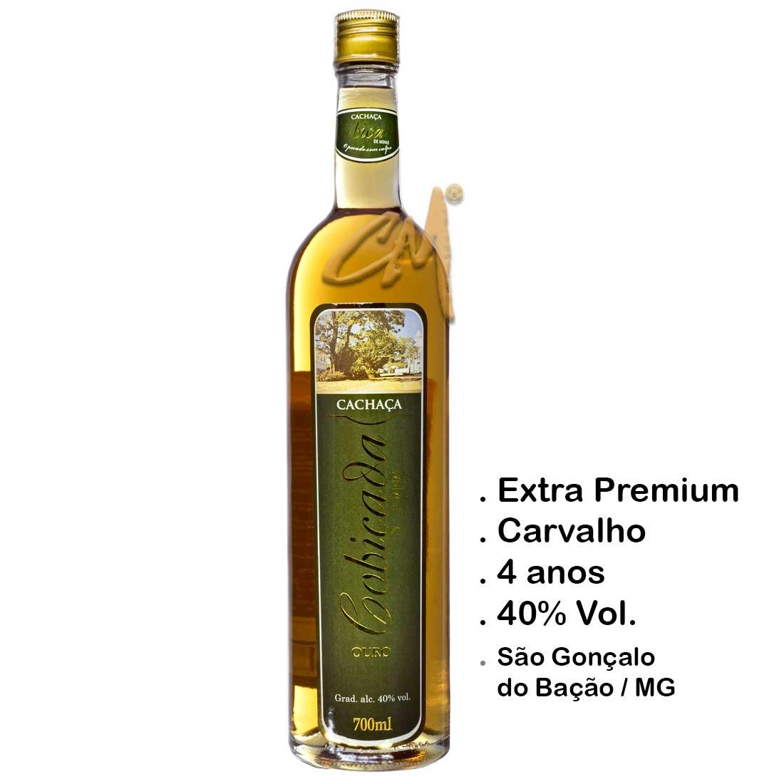 Cachaça Cobiçada Ouro Senior 700 ml (São Gonçalo do Bação - MG)