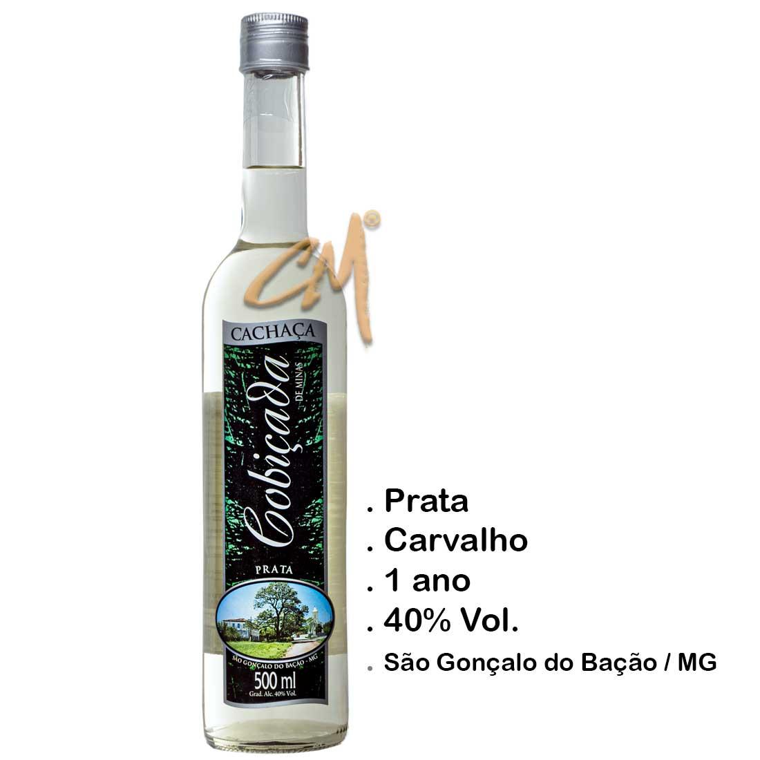 Cachaça Cobiçada Prata Seduction 500 ml (São Gonçalo do Bação - MG)
