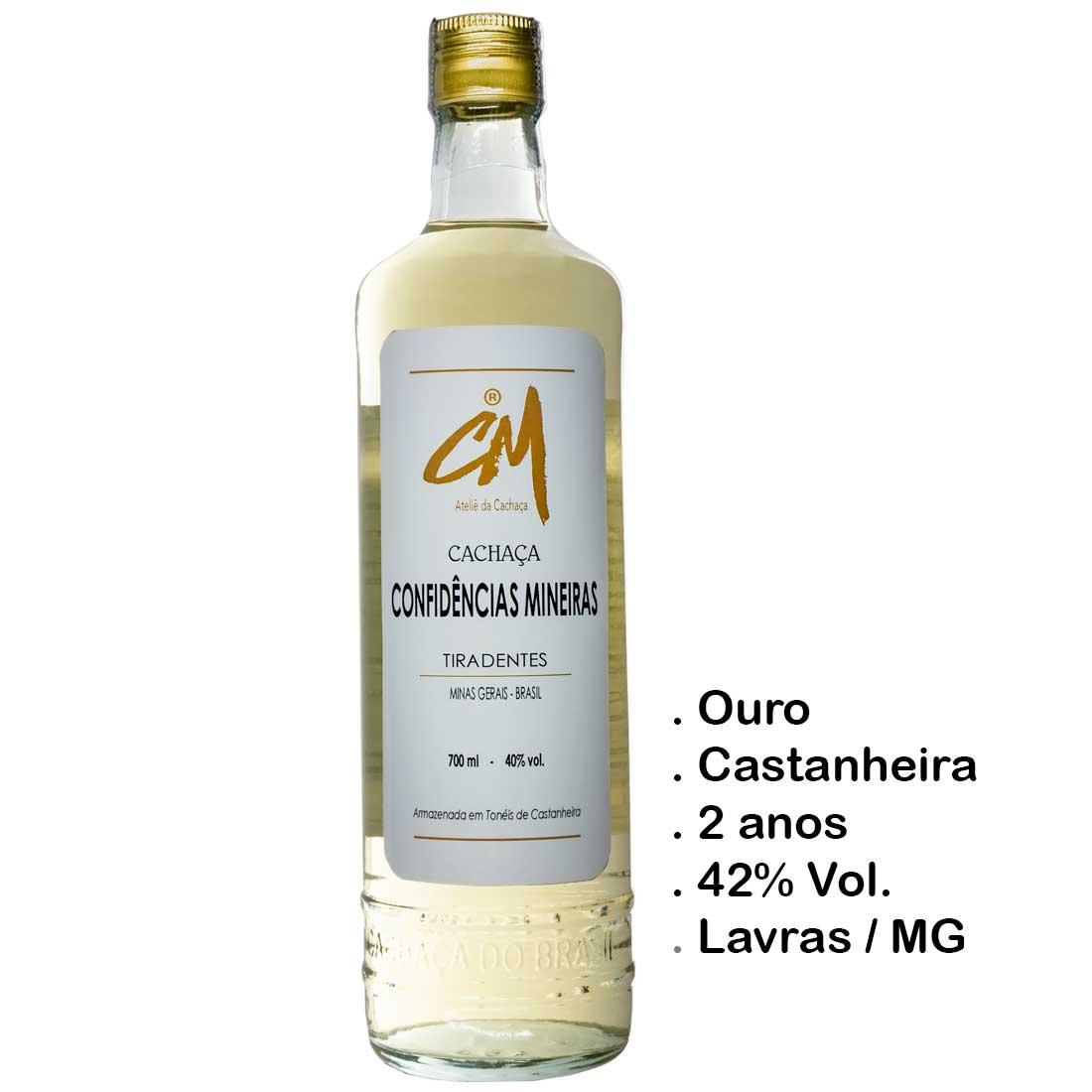 Cachaça Confidências Mineiras Ouro 700 ml (Lavras - MG)