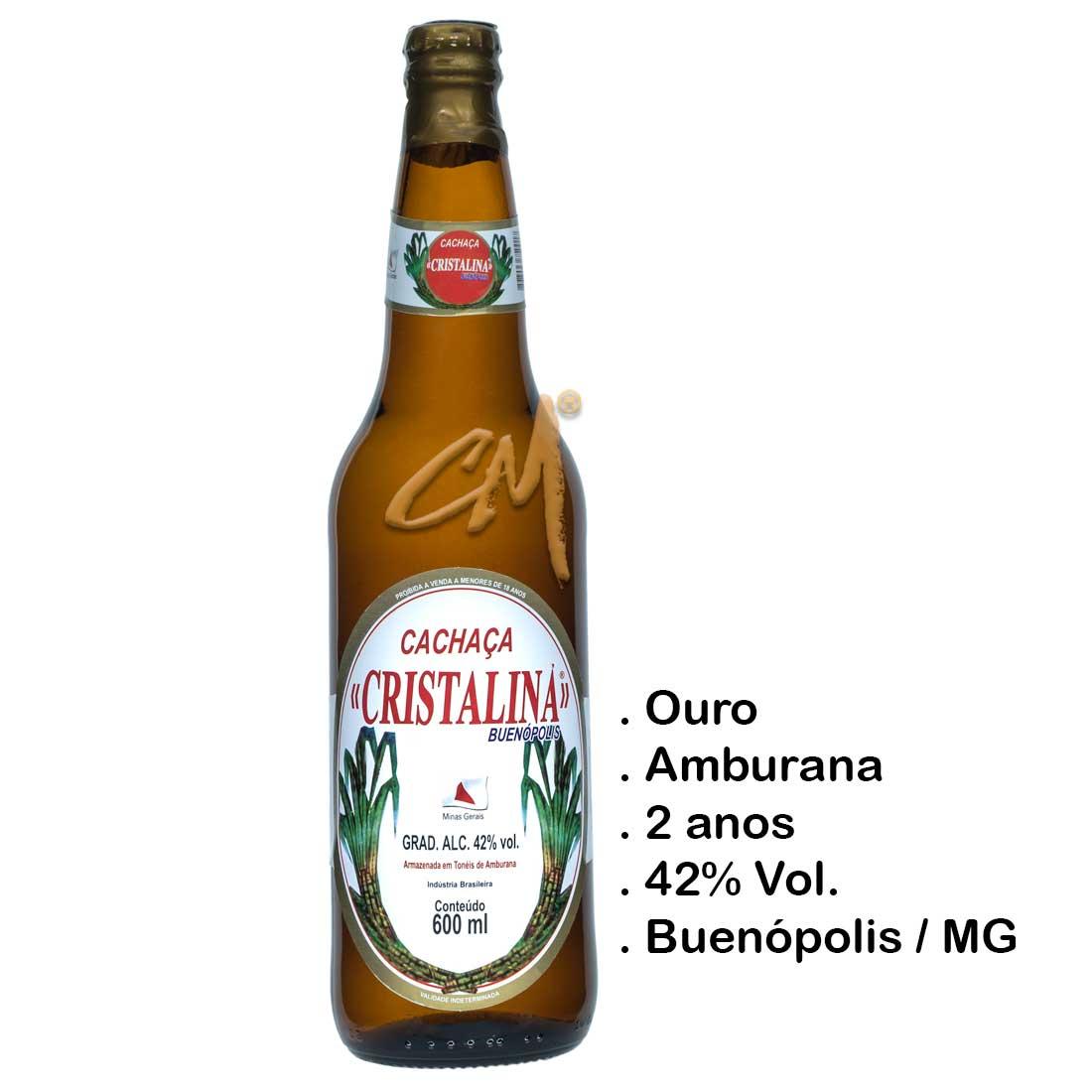 Cachaça Cristalina 600 ml (Buenópolis - MG)