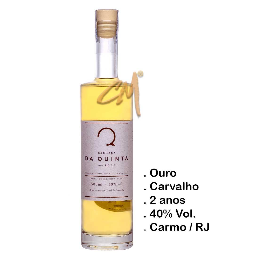 Cachaça Da Quinta Carvalho 500 ml (Carmo - RJ)