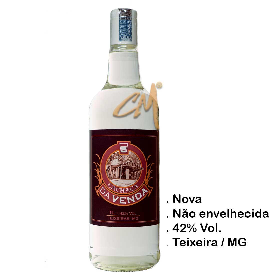 Cachaça Da Venda Prata 1000 ml (Teixeiras - MG)