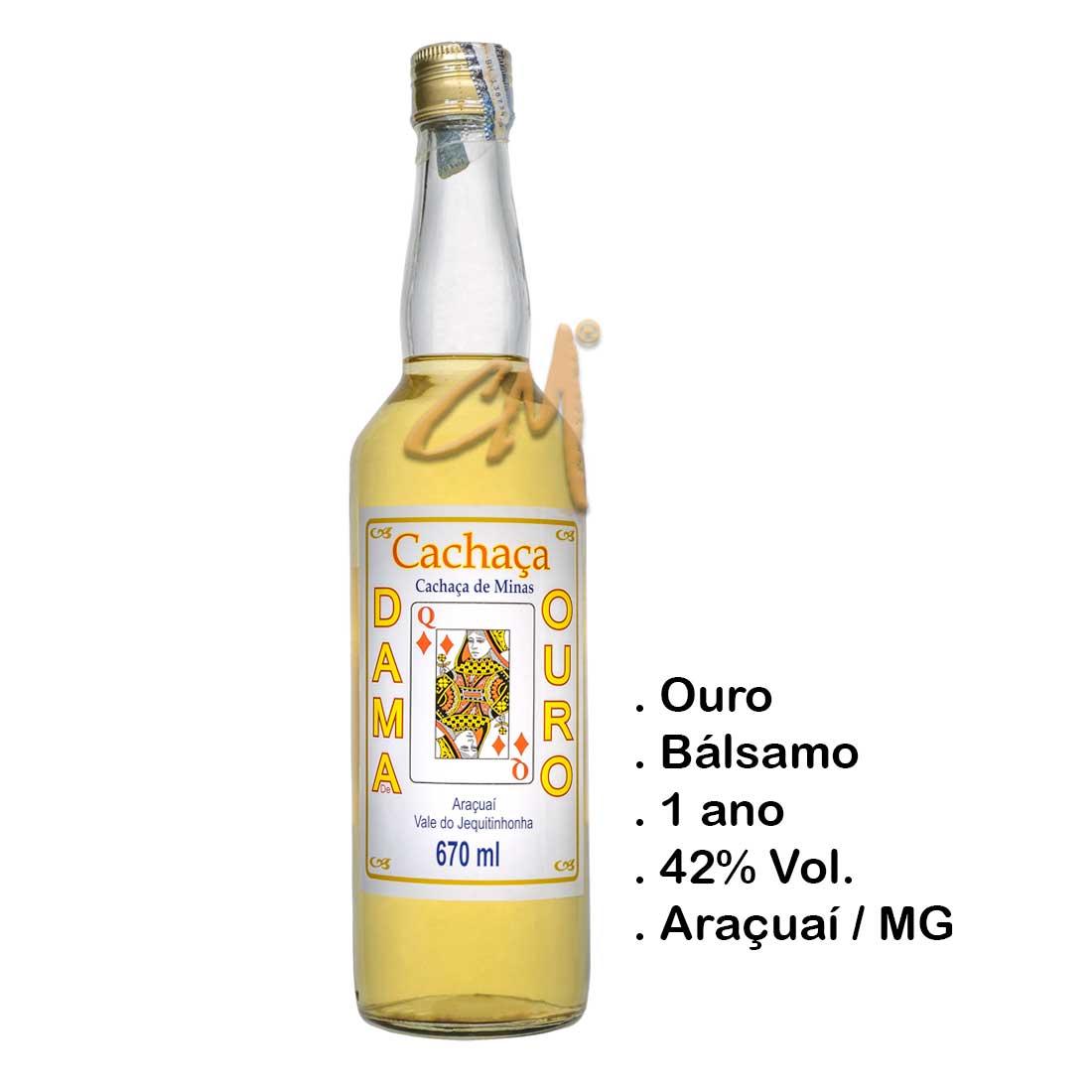 Cachaça Dama de Ouro 670 ml (Araçuaí - MG)