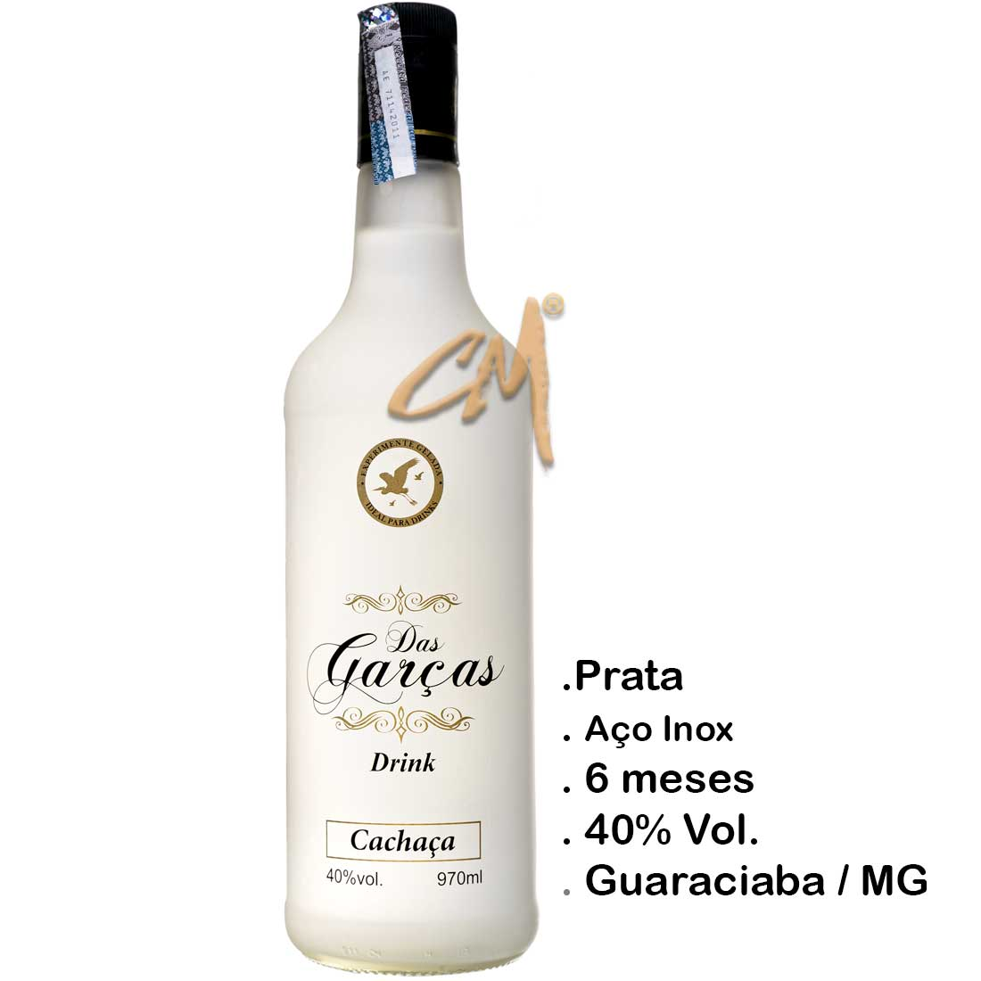 Cachaça Das Garças Drink 970 ml (Guaraciaba - MG)