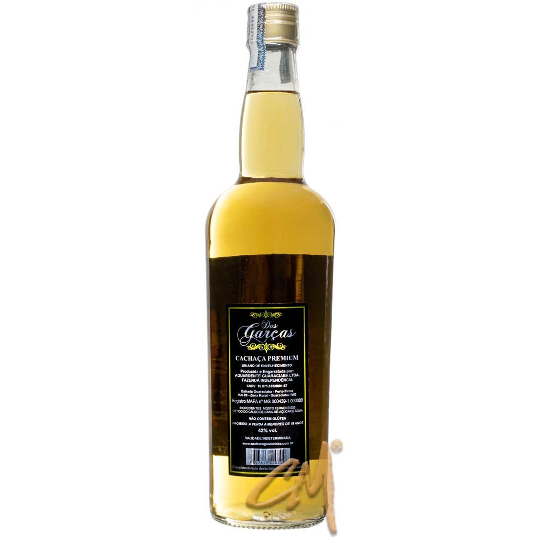 Cachaça Das Garças Premium 700 ml (Guaraciaba - MG)
