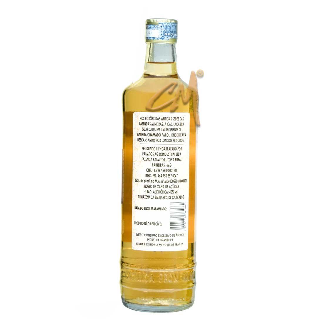 Cachaça Do Parol 700 ml (Paineiras / MG)