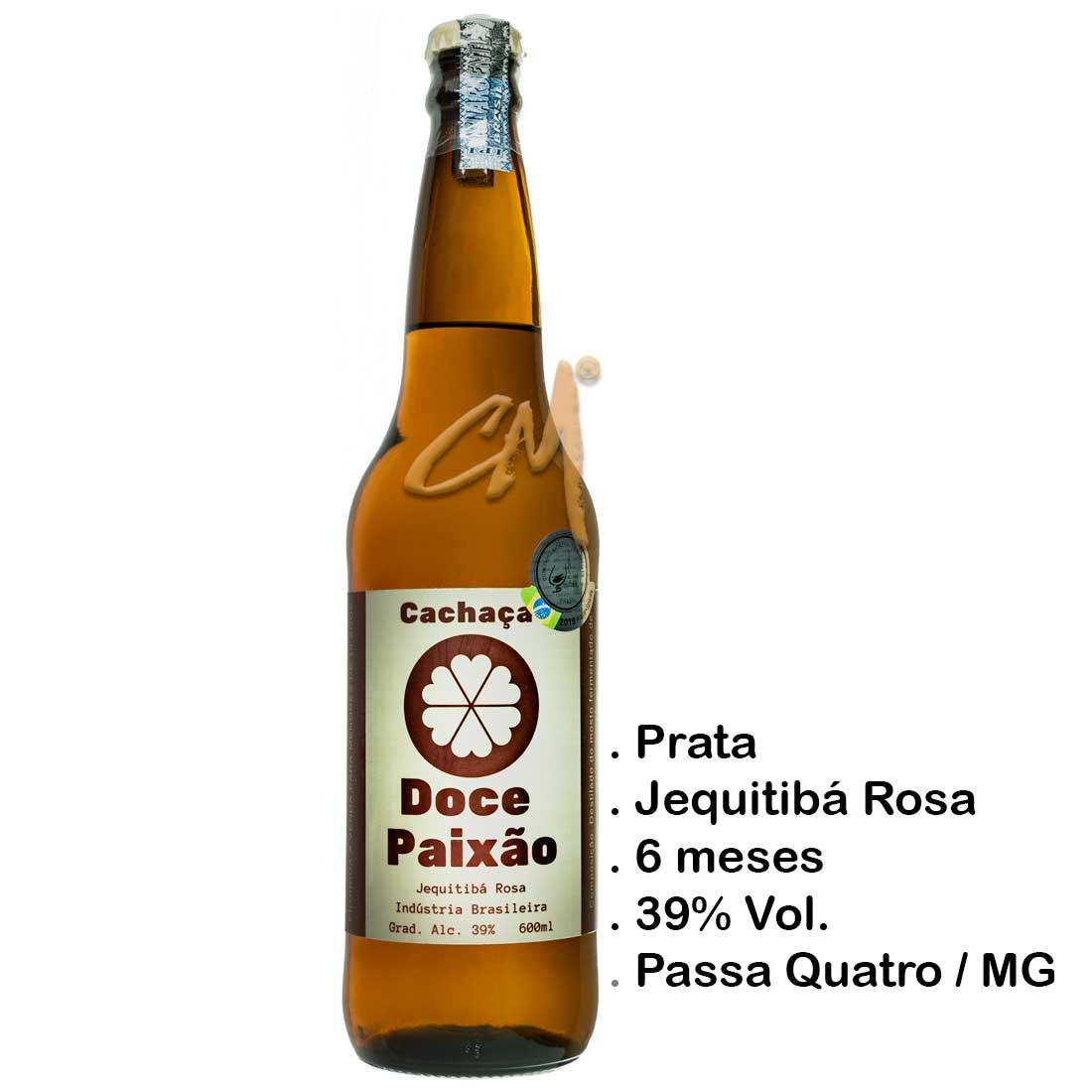 Cachaça Doce Paixão Jequitibá 600 ml (Passa Quatro - MG)