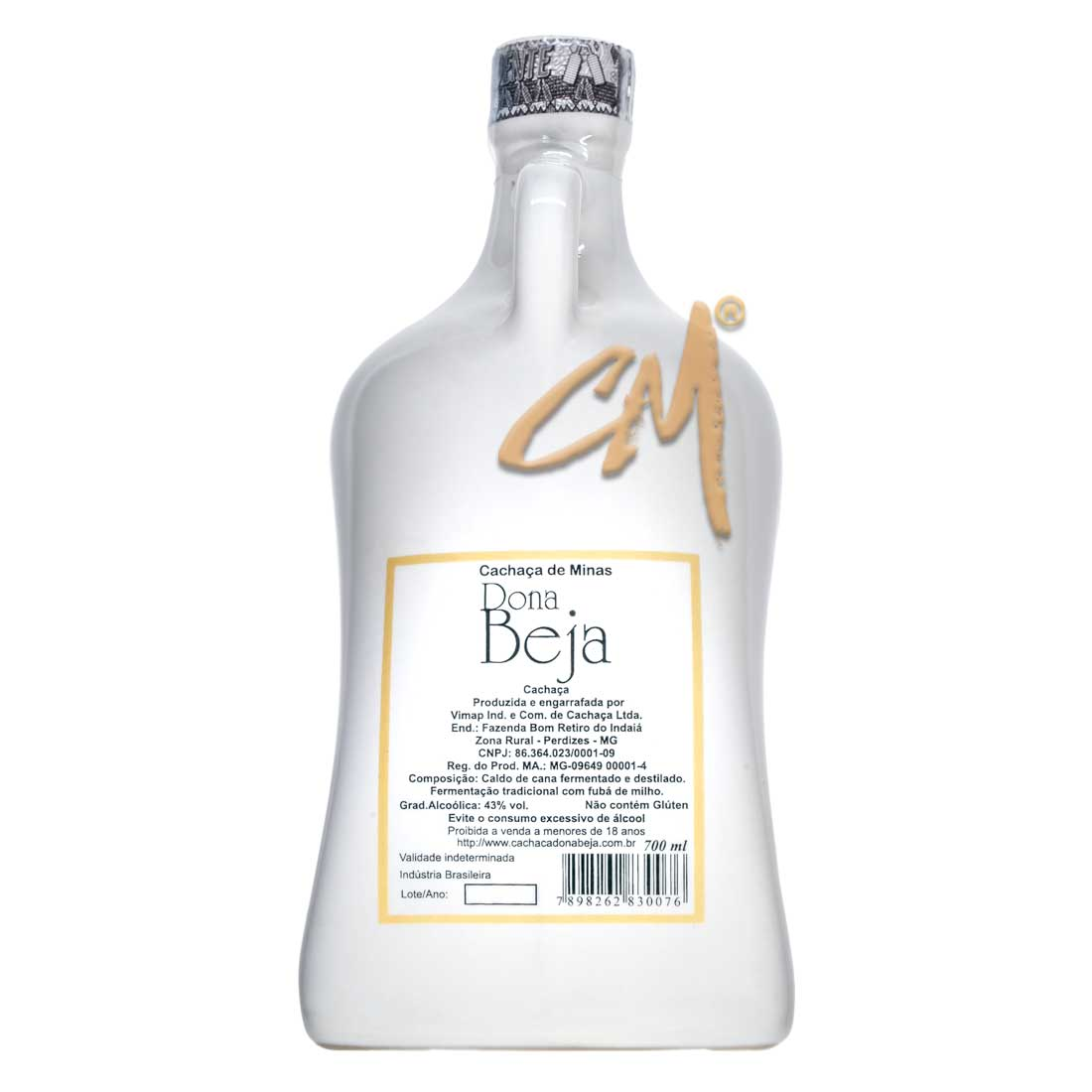 Cachaça Dona Beja Louça 700 ml (Perdizes - MG)