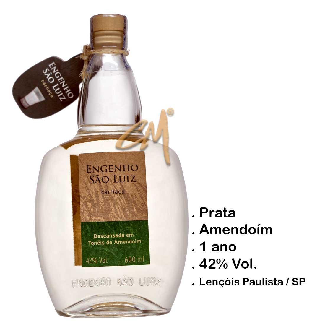 Cachaça Engenho São Luiz Amendoim 600 ml (Lençóis Paulista - SP)