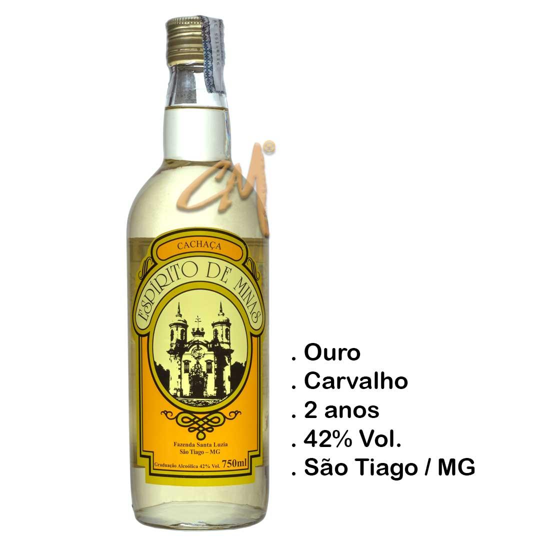 Cachaça Espírito de Minas 750 ml (São Tiago - MG)