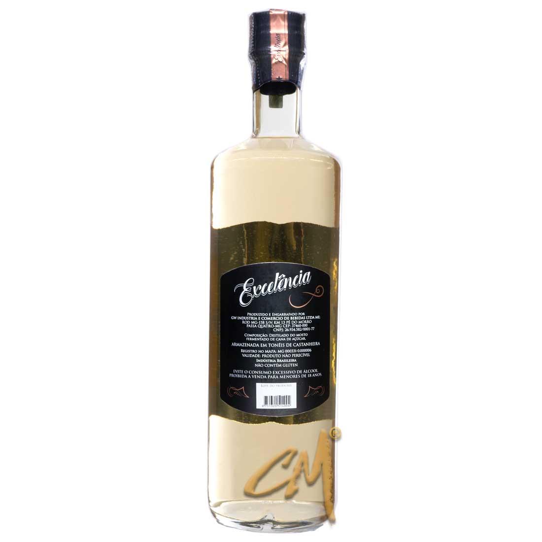 Cachaça Excelência Castanheira 700 ml (Passa Quatro - MG)