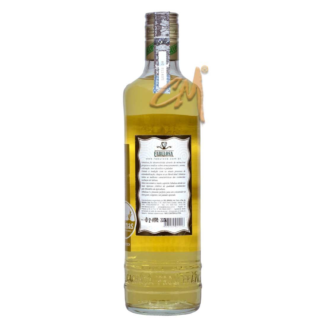 Cachaça Fabulosa 700 ml (Salinas - MG)
