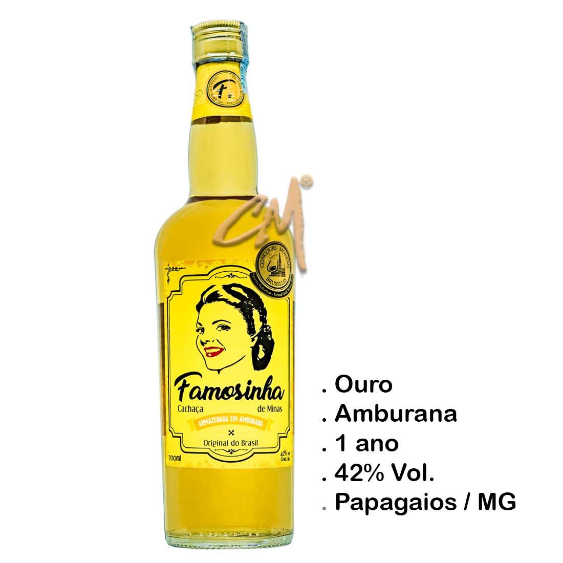 Cachaça Famosinha de Minas 700 ml (Papagaios - MG)