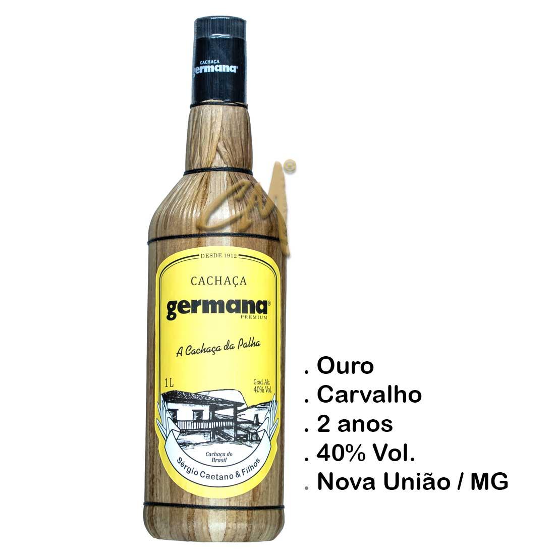 Cachaça Germana 980 ml (Nova União - MG)