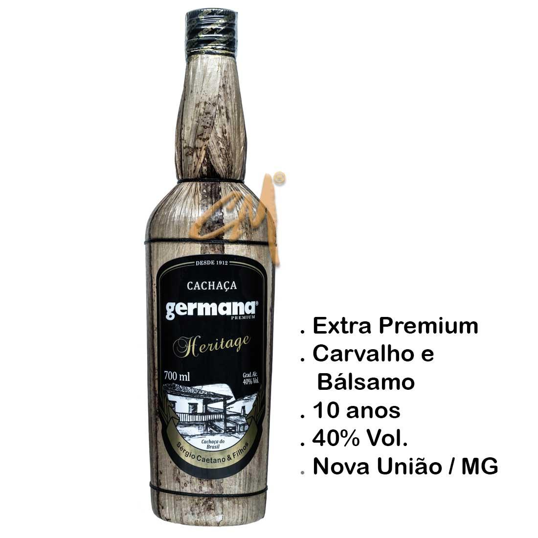 Cachaça Germana Heritage 700 ml (Nova União - MG)