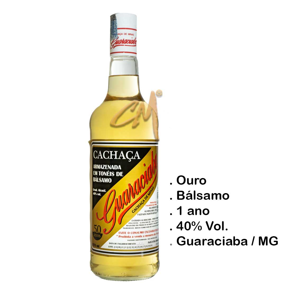 Cachaça Guaraciaba Ouro 970 ml (Guaraciaba - MG)