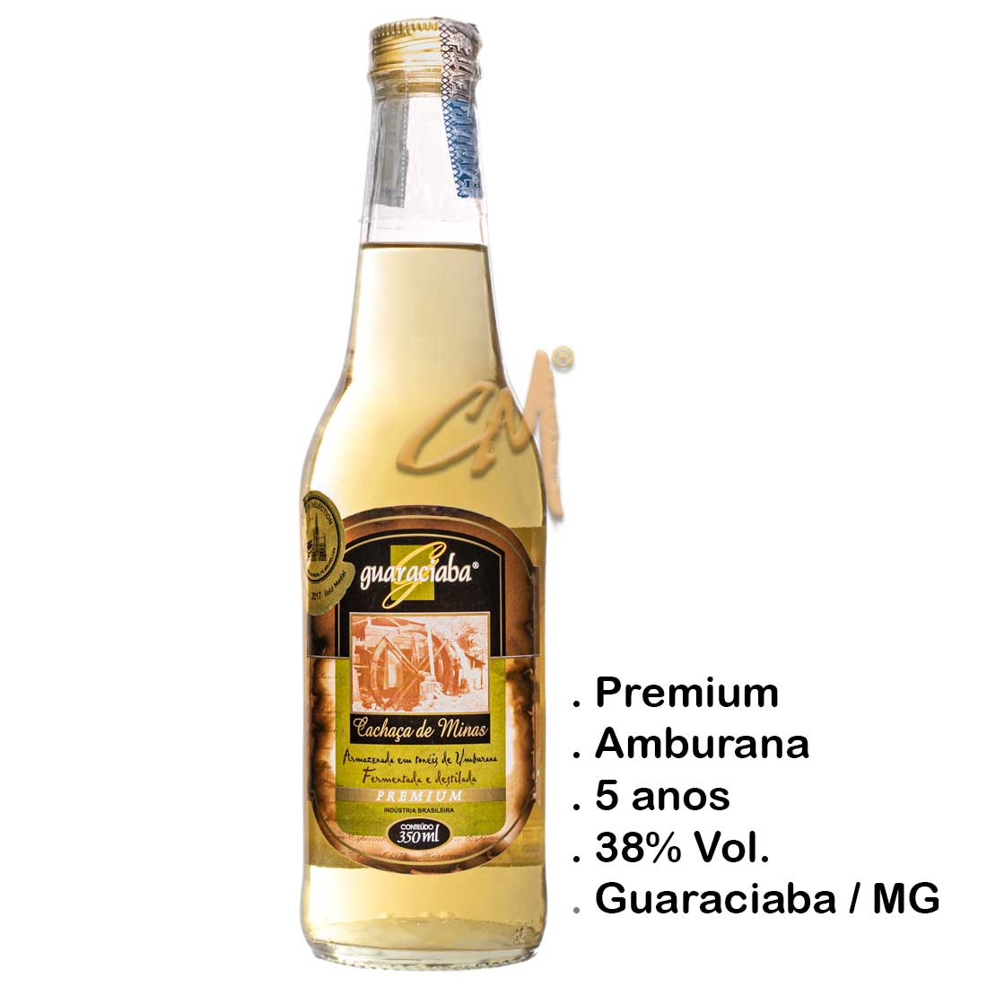 Cachaça Guaraciaba Premium 350 ml (Guaraciaba - MG)