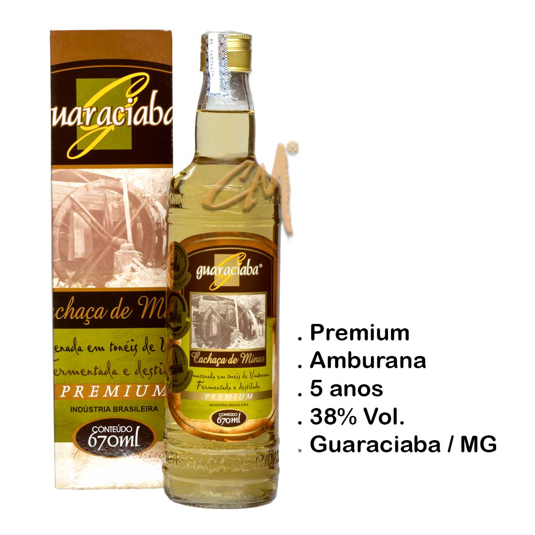 Cachaça Guaraciaba Premium 670 ml (Guaraciaba - MG)